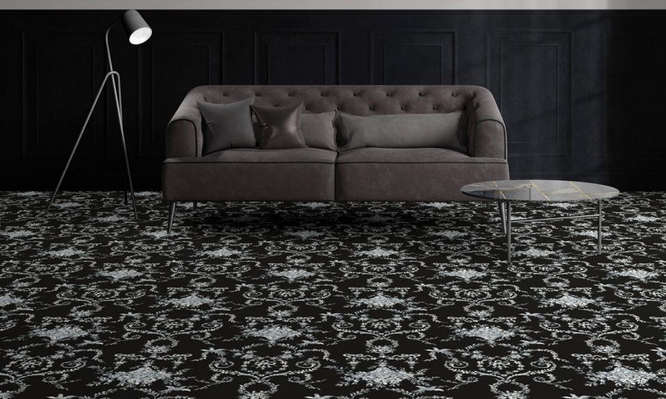 Web Classic Florals Nouveau Toile Empire Noir 9 50365
